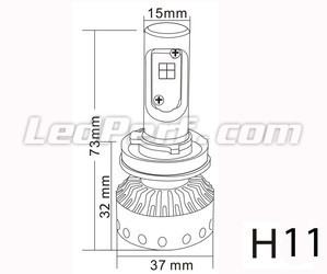 Mini LED H11 LED alta potência Tuning