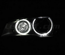 Pack Angel Eyes H8 de LEDs (branco puro 6000K) para BMW X3 (F25) - Standard