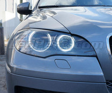 Pack Angel Eyes H8 de LEDs (branco puro 6000K) para BMW X3 (F25) - MTEC V3.0