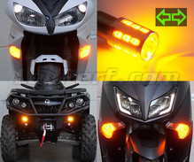 Pack piscas dianteiros LED para Harley-Davidson Road King Custom 1450