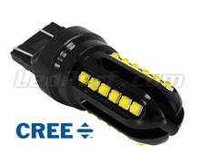 Lâmpada W21/5W LED T20 Ultimate Ultra Potente - 24 LEDs CREE - Anti-erro OBD