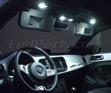 Pack interior de luxo full LEDs (branco puro) para Volkswagen New Beetle (Coccinelle) 2012
