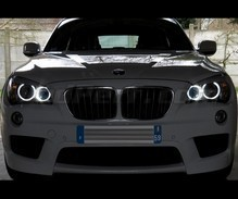 Pack Angel Eyes H8 de LEDs (branco puro 6000K) para BMW X1 (E84) - MTEC V3.0